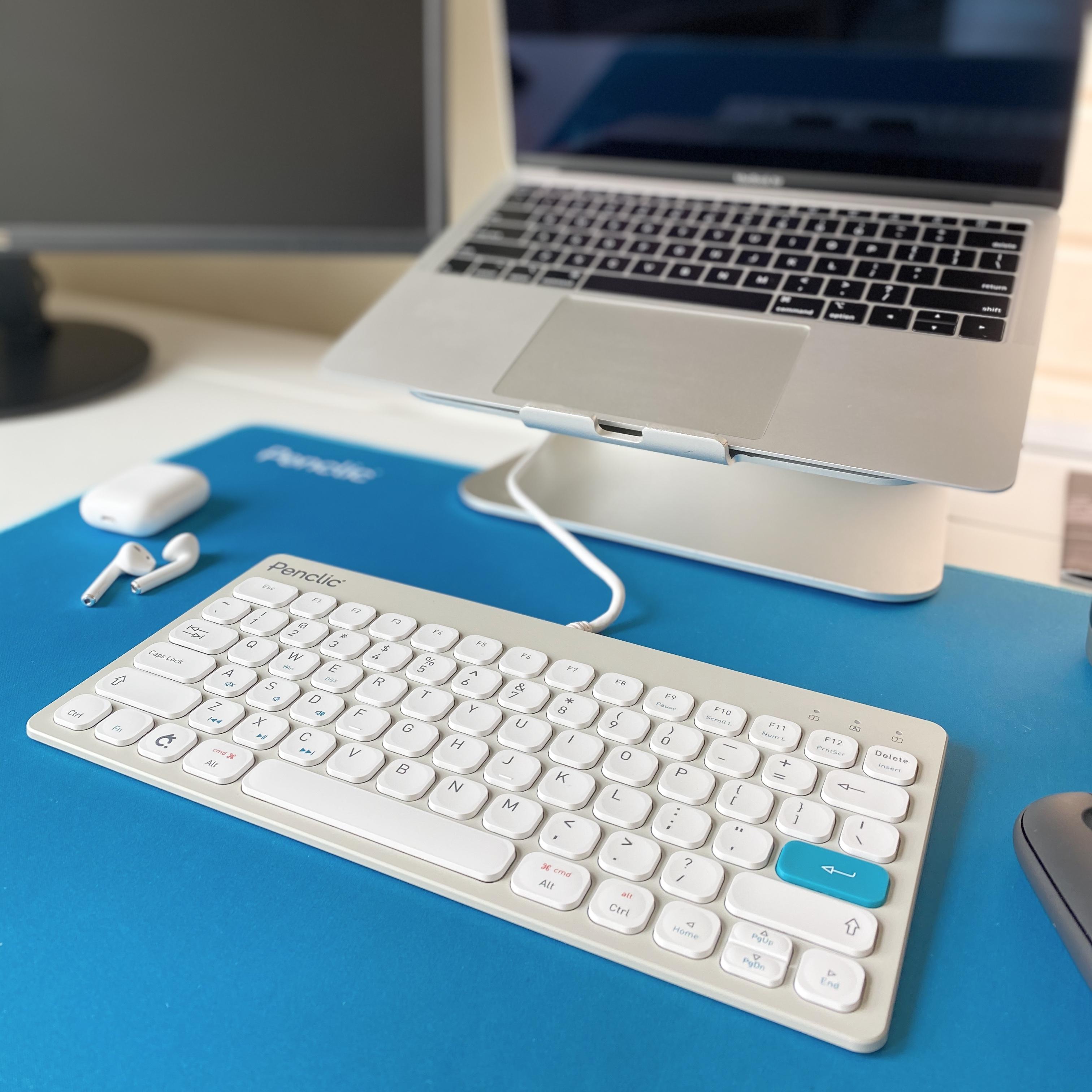 ergonomic desks set up